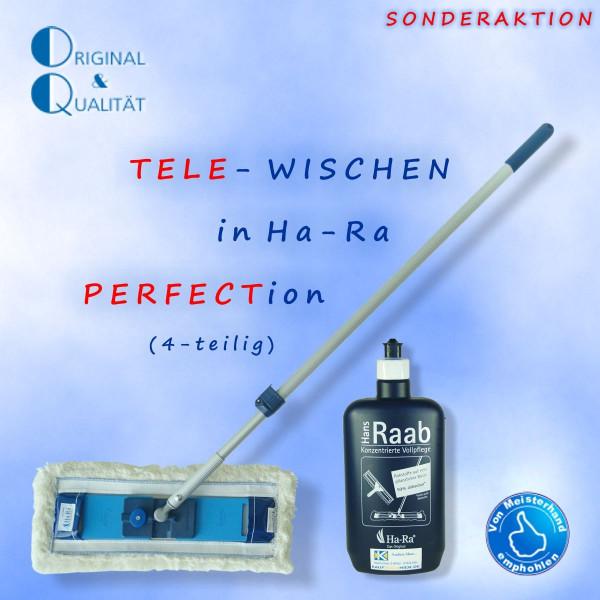 Ha-Ra Tele-Wischen (4er-Set) weiss-lang