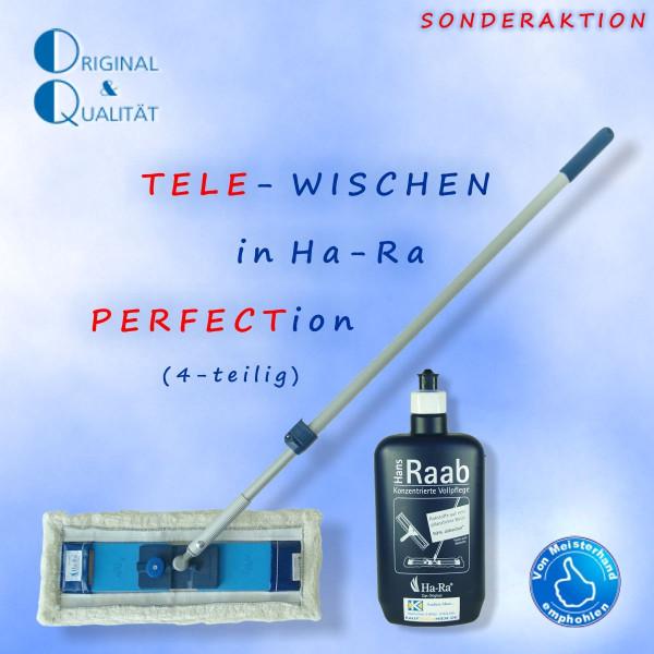 Ha-Ra Tele-Wischen (4er-Set) weiss-kurz